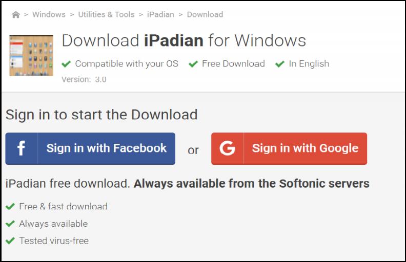 iPadian software