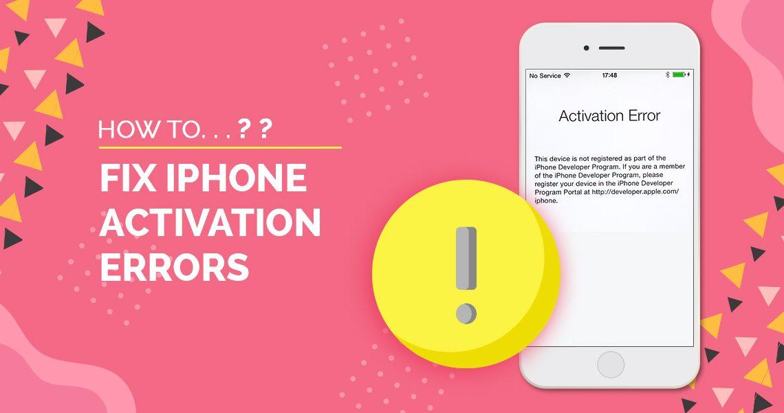 iphone activation error