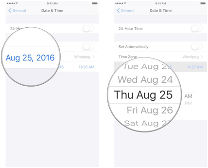 Change the Date & Time of your Device