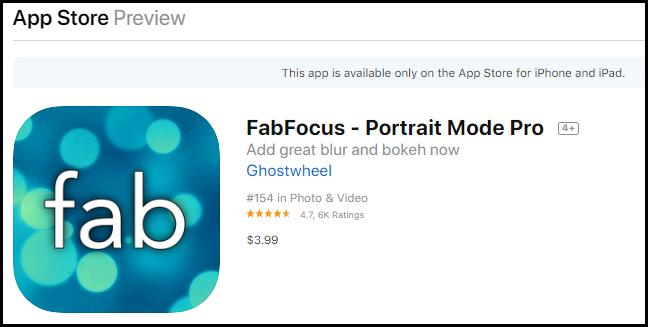 Fabfocus app