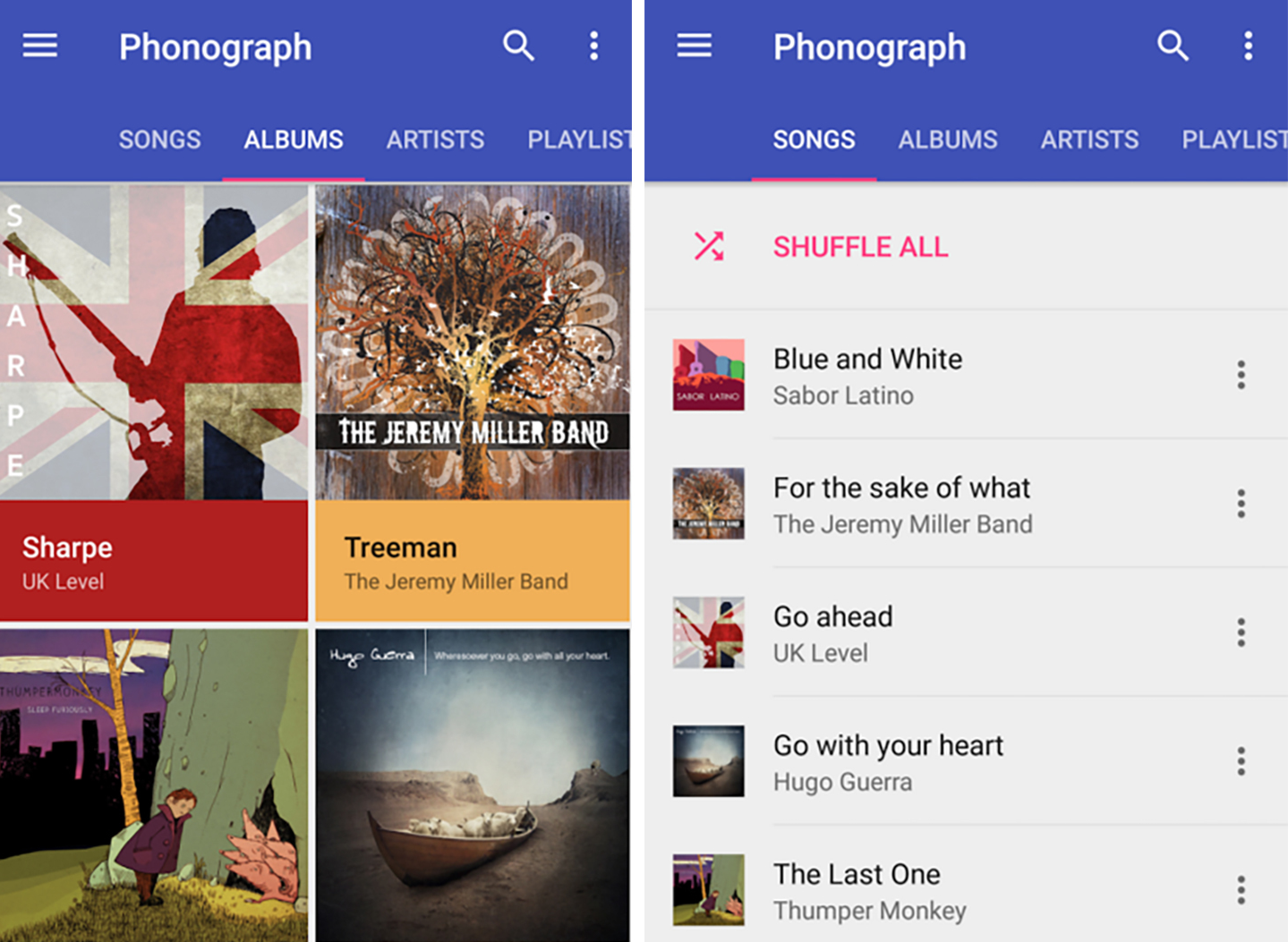 Phonograph music player app