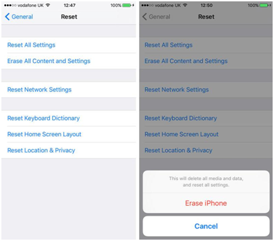 Reset your iPhone Settings