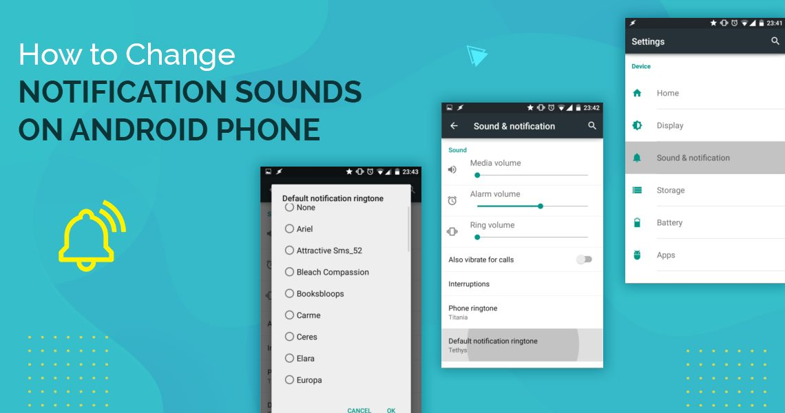 How to change notification sounds on Android Phone