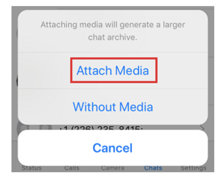 Attach Media option