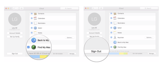 How to Sign-out from iCloud