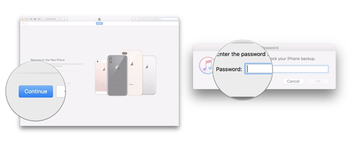 Provide your password if needed