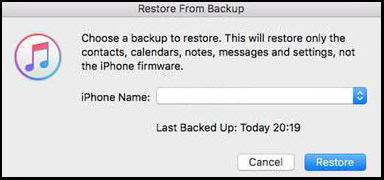Restoring the messages