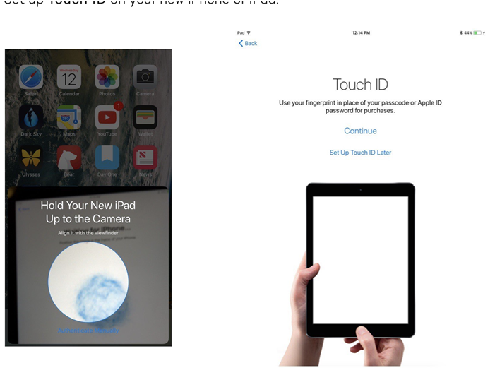 Touch ID on your iOS device