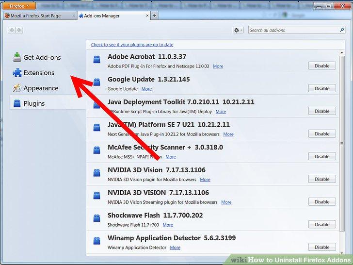 Uninstall-Firefox-Addons-