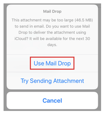Use Mail Drop