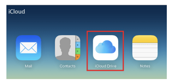 iCloud drive from the screen