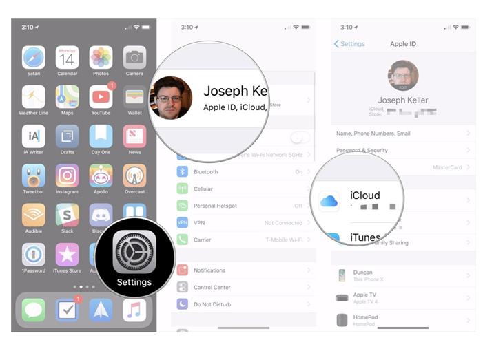 iPhone using iCloud