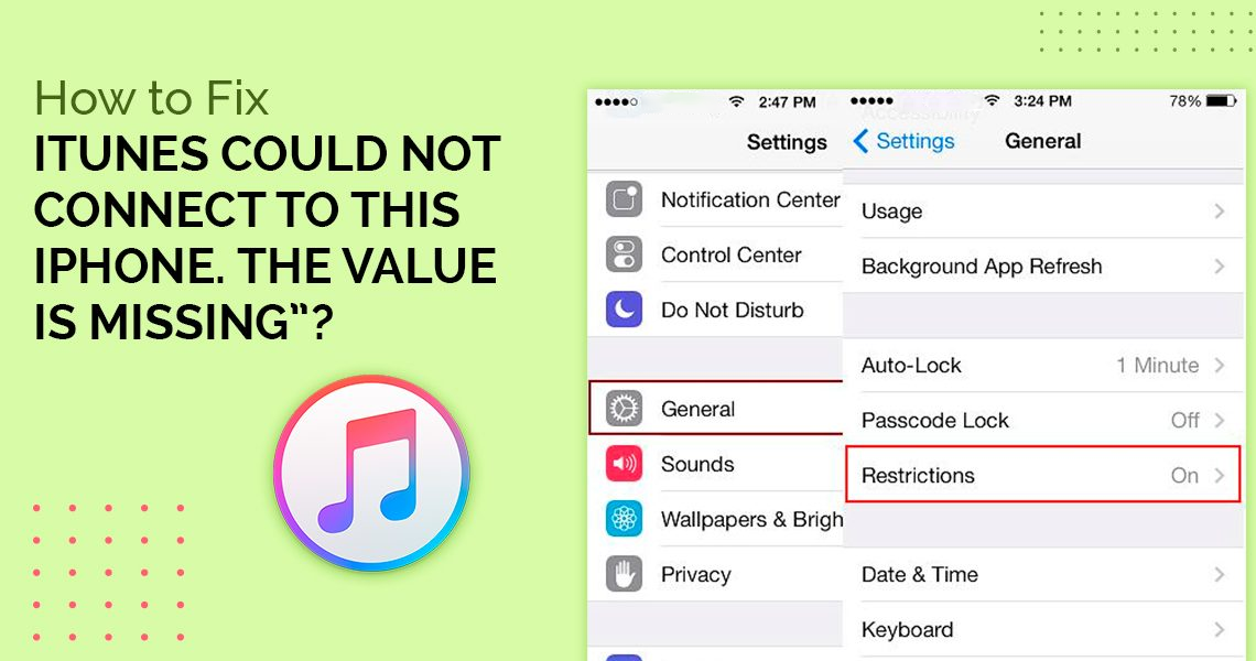 iTunes Could Not Connect iPhone