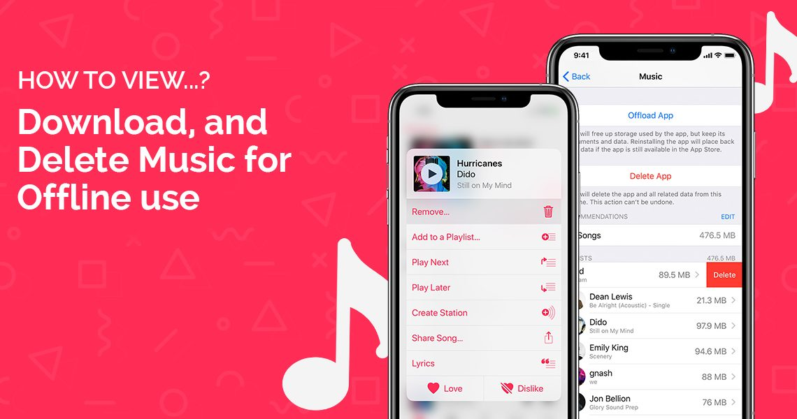 How to View, Download, and Delete Music for Offline