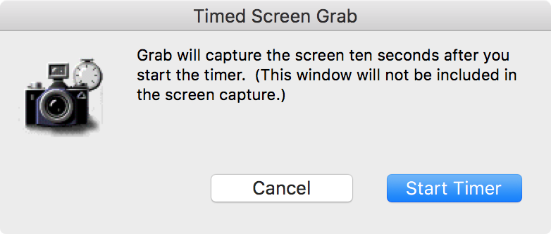 Capturing timed screenshots
