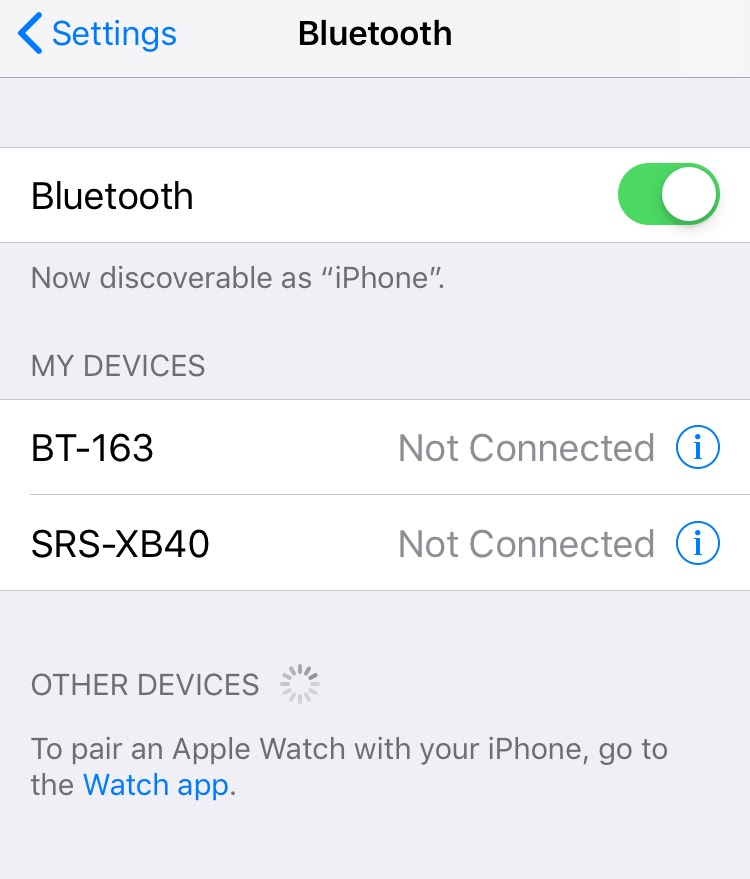 Connect the iPhone to a Bluetooth Speaker