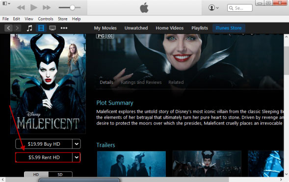 How to Rent a movie on iTunes