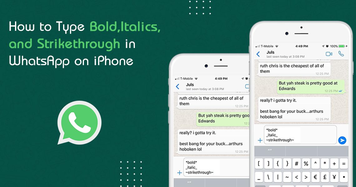 How to Type Bold in WhatsApp on iPhone
