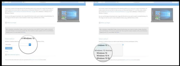 How to download and Windows source file, i.e. Windows 10 ISO file?