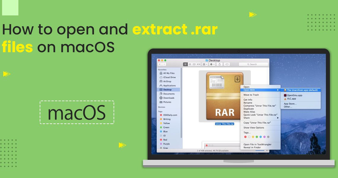 How to open and extract .rar files