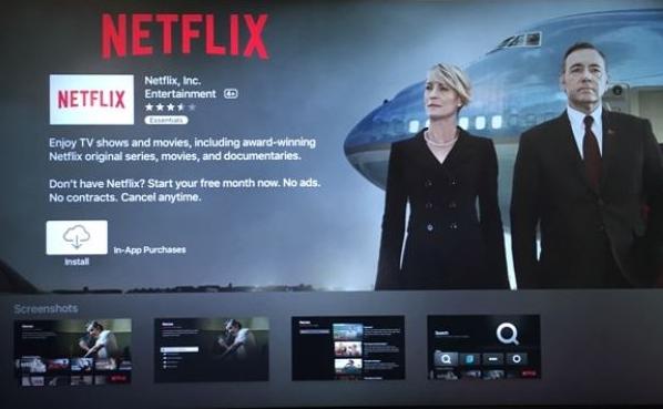 Re-install Netflix on Apple TV