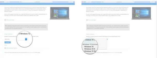 Select the Windows 10