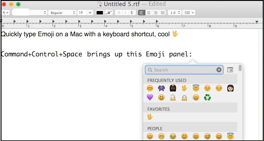 Use emoji on Mac