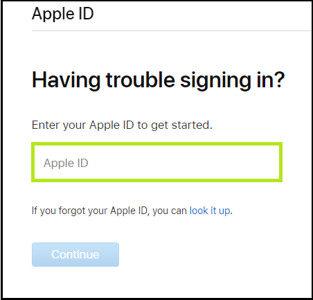iforgot.apple