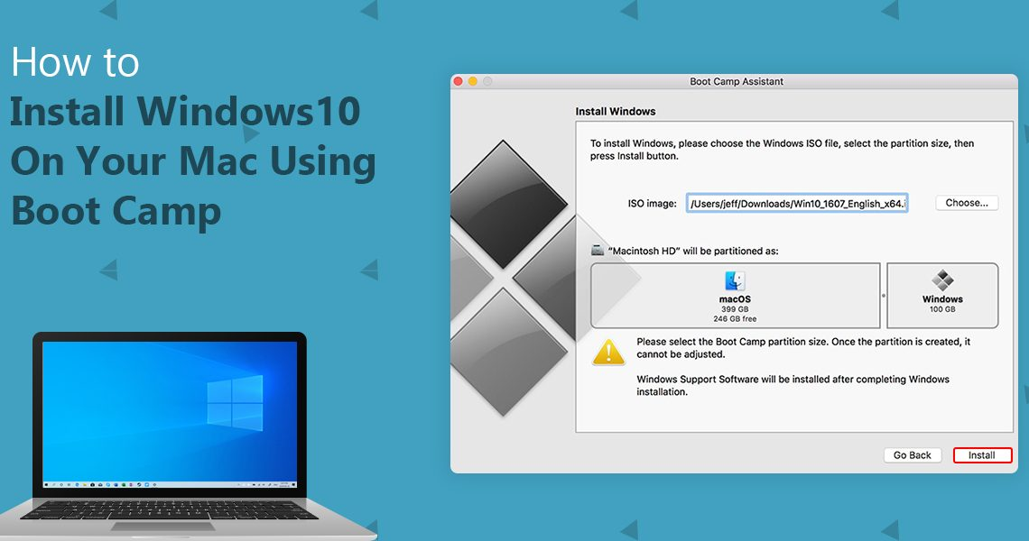 install Windows 10 on your Mac using Bootcamp