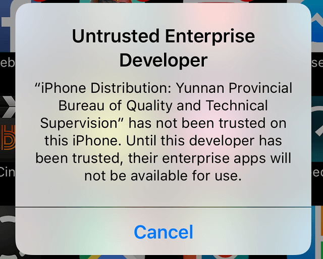 GBA4iOS Untrusted Enterprise Developer Error