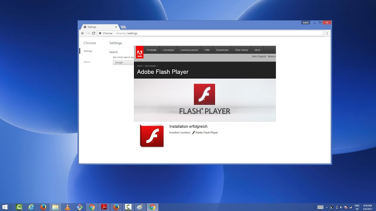 Enable Adobe Flash Player in Chrome