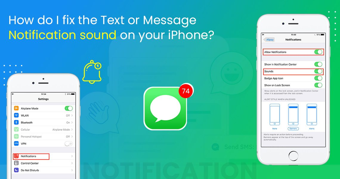 How do I fix the Text or Message Notification sound on your iPhone