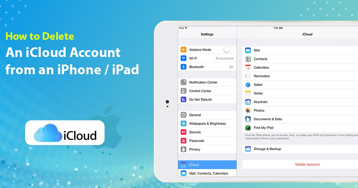 How to Delete an iCloud Account from an iPhone