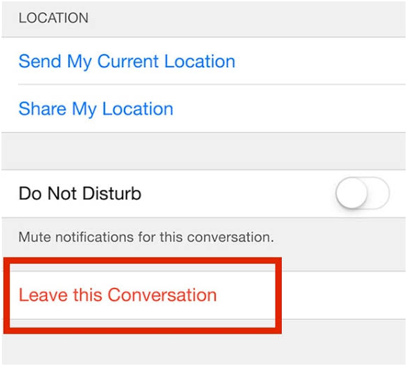 How to Leave a Group Chat in Messages for iOS