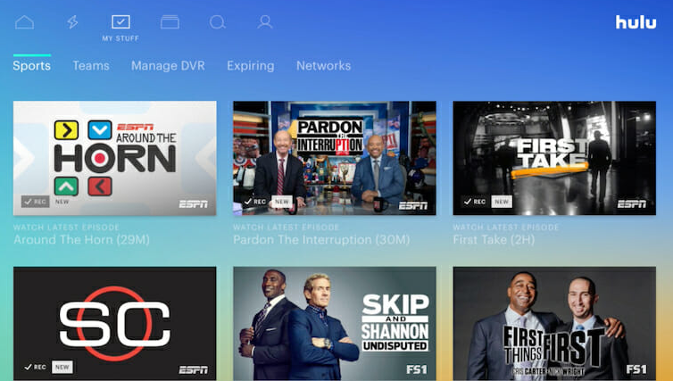Hulu with Live TV Include DVR