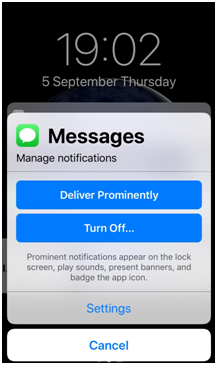 Manage Notification