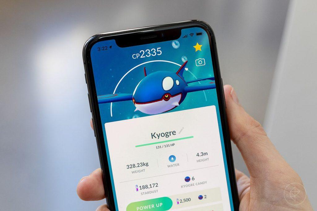 Pokemon Go movesets for Kyogre