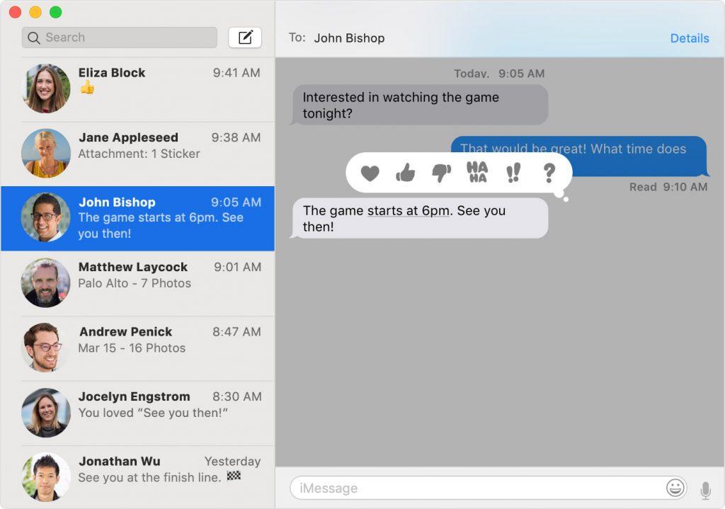 Start a Conversation in Messages App on Mac