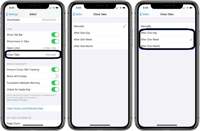 Steps to close all tabs in iPhone or iPad (ios 13)