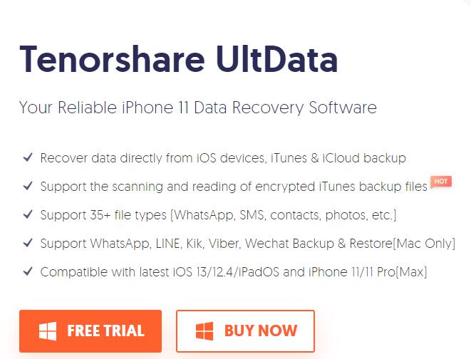 Tenoshare iPhone Data Recovery