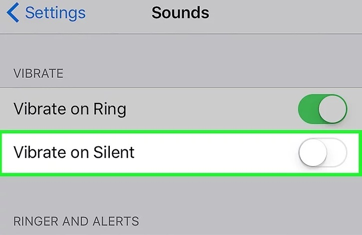 Vibrate on ring Or vibrate on silent option