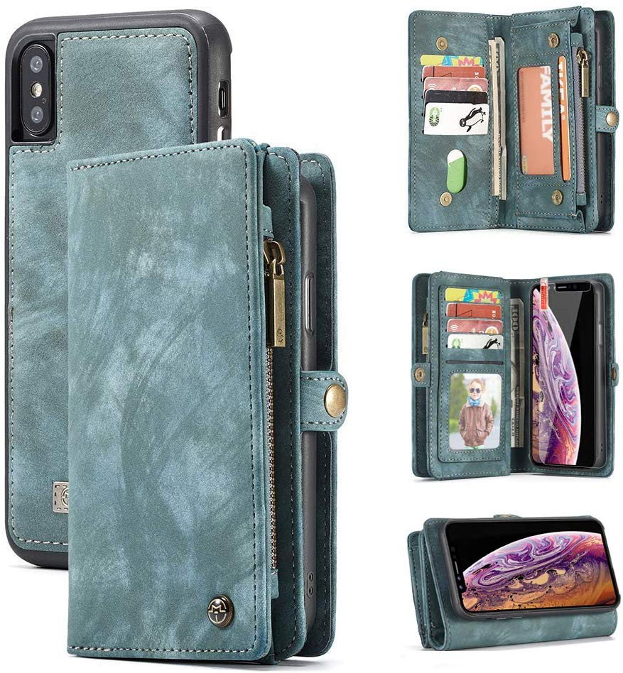 Ztoppo 2 in 1 Leather iPhone X Wallet Cases