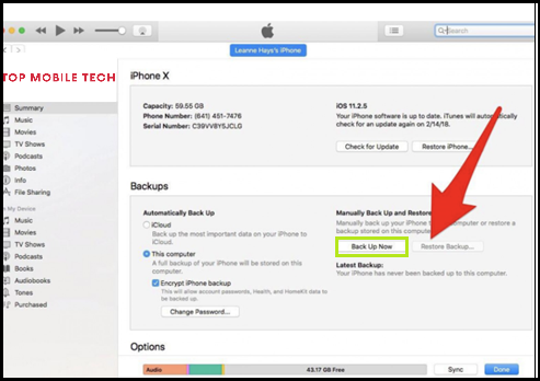 iCloud after your iPhone is restored