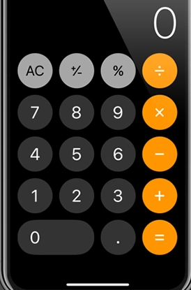 Mini Calculator Keyboard app for iphone