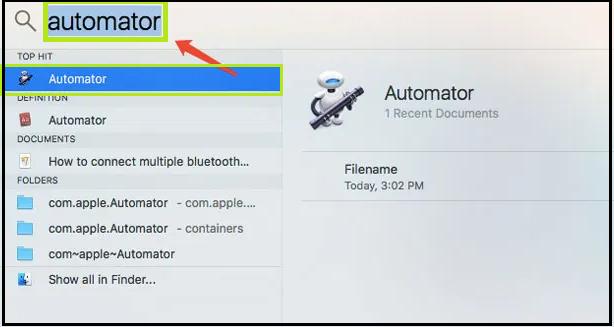 Open Automator