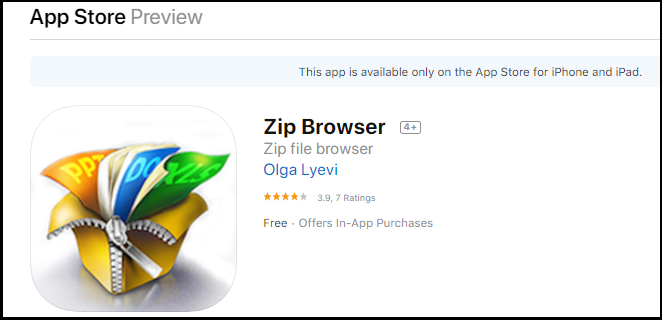 Zip Browser