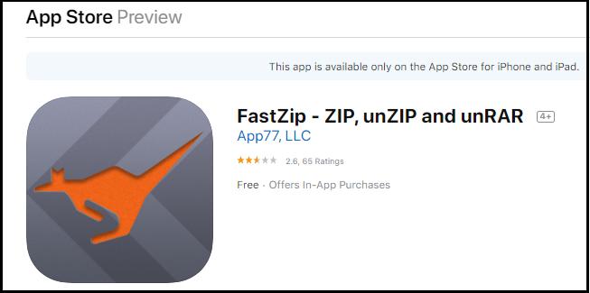 fastzip app
