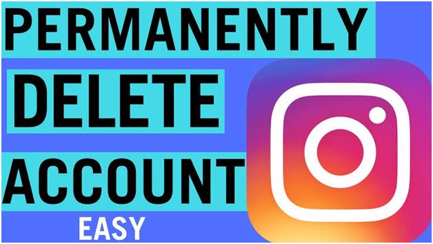How to delete account on instagram