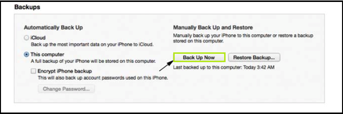 Back up your iOS 7 Device