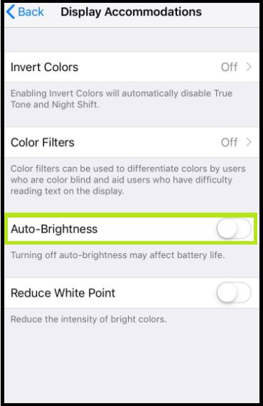 Disable Auto-Brightness